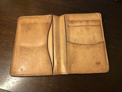 Aged IL Bussetto Leather Card Holder Wallet