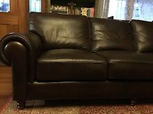 MORAN Luxury Leather Large 3 Seater Lounge Excellent  condition Wentworth Falls Blue Mountains Preview