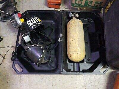 Scott Air-pak Ii Self Contained Breathing Apparatus Whard Case And Steele Tank