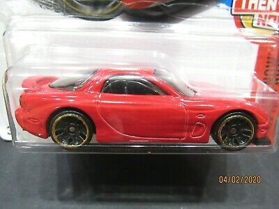 RED 95 MAZDA RX-7 THEN AND NOW 2017 HOT WHEELS 1/64 DIECAST CAR