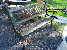 Vintage cast iron bench seat rustic garden outdoor Joyner Pine Rivers Area Preview