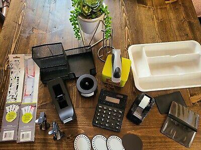 19pc Office Supplies Mesh Desk Organizer Holder Accessories Storage Bundle