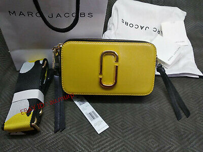 NWT Genuine Marc Jacobs Snapshot Small Camera Bag Crossbody yellow multi sales