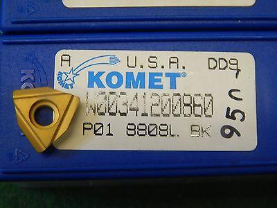 5 Komet W00 34120.0860 P01-8808 L Bk Carbide Inserts