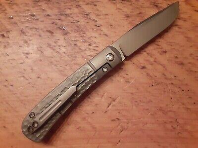 Pena Knives X-Series Front Flipper TRAPPER Jigged Titanium