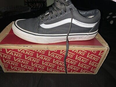 Used gray low top vans worn twice size mens 6 1/2 womens 8