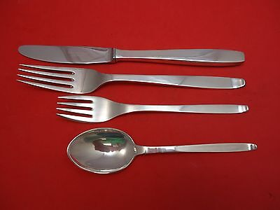 Funkis aka #29 by Evald Nielsen Sterling Silver Dinner Size Place Setting(s) 4pc
