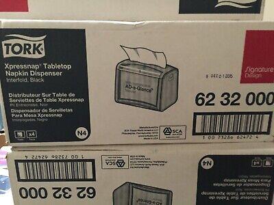 Tork Xpressnap Tabletop Napkin Dispenser Black 4 Dispensers Trk6232000ct