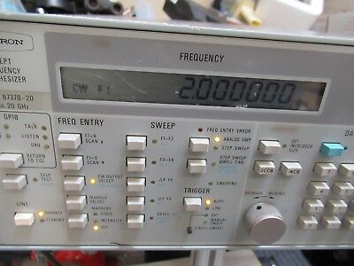 Wiltron Swept Frequency Synthesizer 2-20 Ghz Model 6737b-20 As Pictured Gar