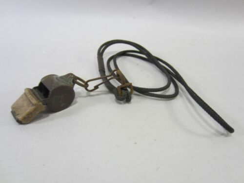 Vintage Brass Military Police Whistle  PA#69