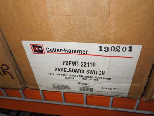 Cutler-hammer Fdpwt2211r 30a 2p 240v Twin Fusible Panelboard Switch