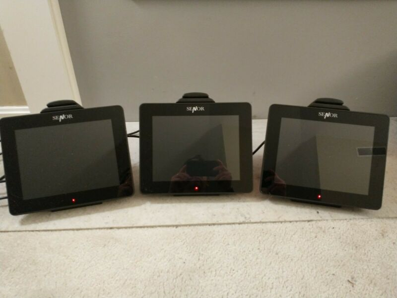 Lot of 3 Senor iSPOS 104 Point-of-Sale POS Units with Touchscreen, Card Reader