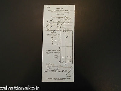 Vintage Property And Income Tax And House Duties Letterhead Invoice