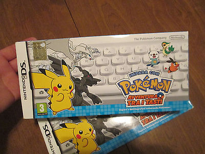 Italy Version   Learn With Pokemon Typing Adventure Nintendo Ds Keyboard New