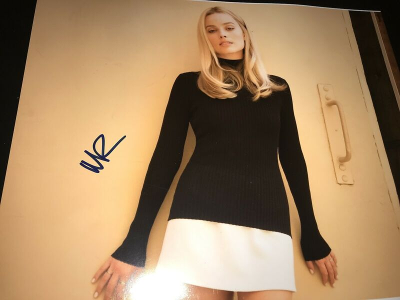 MARGOT ROBBIE SIGNED AUTOGRAPH 11x14 ONCE UPON A TIME IN HOLLYWOOD DICAPRIO COA