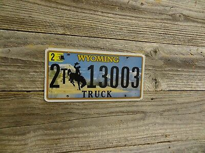 Wyoming license plate bucking horse.  Wyoming Truck single license plate!!.