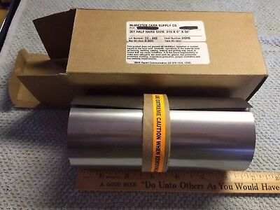 Stainless Steel 301 Half Hard Shim Stock .010 Thick 6 Wide 50 Long Sheet New