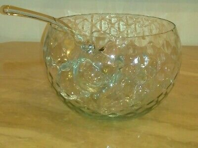 14 Piece VTG West Virginia Glass Punch Bowl Set ()