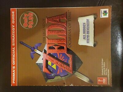 Legend of Zelda Ocarina of Time Prima Video Game Strategy Guide Nintendo 64