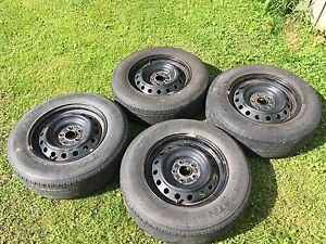 4 rims and tires from Toyota RAV4.