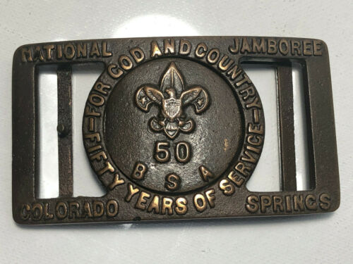Boy Scout 1960 National Jamboree Belt Buckle Colorado Springs by Max Silber