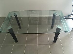 Elegant glass dining setting matching lamp table Armstrong Creek Geelong City Preview
