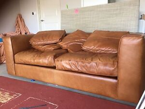 Leather lounge Macquarie Links Campbelltown Area Preview