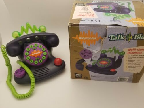 Nickelodeon Talk Blaster Multi-Ringer Corded Telephone Model N2500 NOS 1996