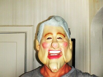 Vintage Bill Clinton Latex Rubber Mask Halloween Costume 2-Piece](Bill Clinton Halloween Costume)
