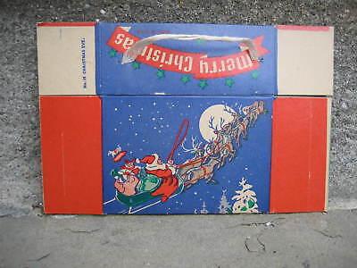 Vintage Merry Christmas Santa Claus Gift (Merry Christmas Gift Box)