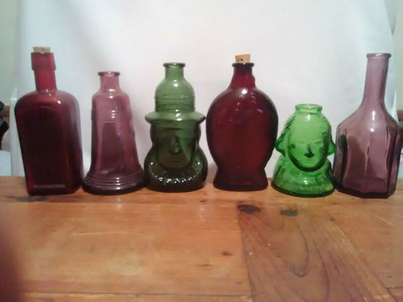 Collection Of 6 Wheaton Bottles