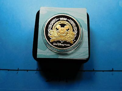 Mickey Mouse Disney 2000 Its A Small World 999 Silver Gold Coin 500 Mintage  B