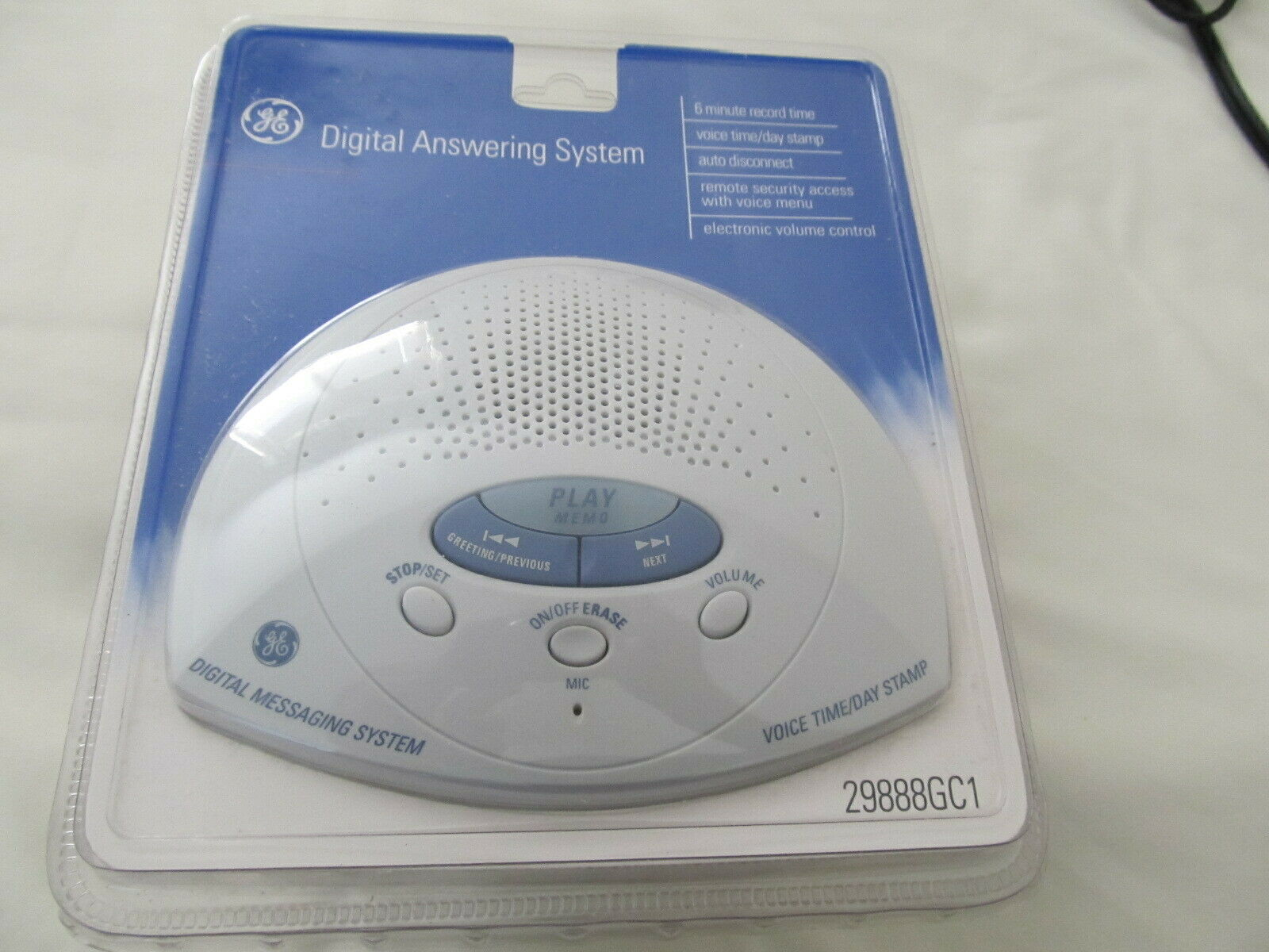 GE Digital Answering Machine System 6 Minute Recording Time