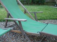 Vintage Deck chairs - 1 with extension Hunters Hill Hunters Hill Area Preview