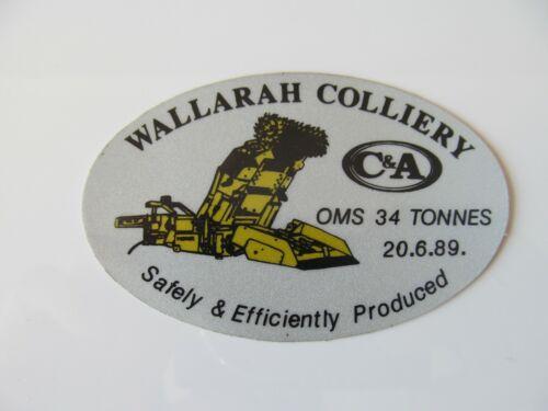 Coal Mining Stickers,  Wallarah Colliery