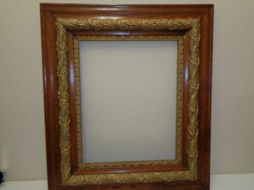 Antique Oak Gold Gilt Gesso Picture Frame