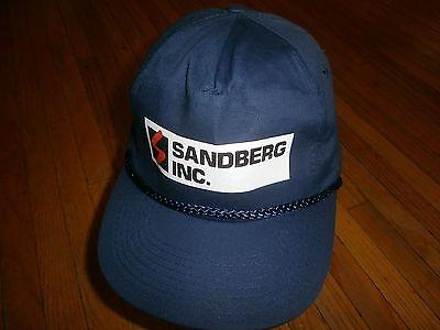 Vtg Nummern Sandberg Incorporated Hut Marineblau Snapback Ungetragen Kapitän