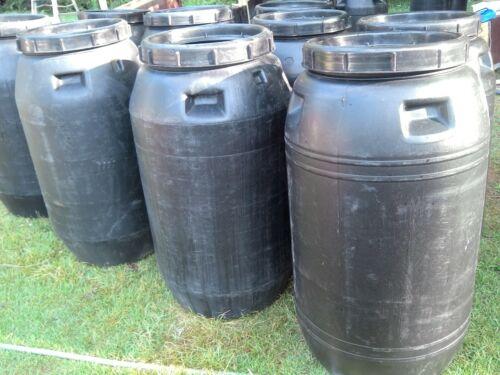 63 Gallon Rain Water Storage Barrel - Screw On Top - CLEAN FOOD GRADE PLASTIC