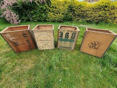 Large vintage wooden Tea Chests X 3