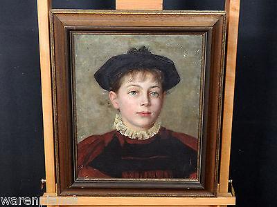 ÖL GEMÄLDE ANTIK PORTRAIT DAME MÄDCHEN FRANZ VON STUCK ? old painting girl woman