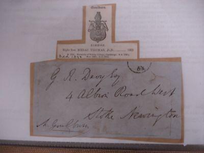 Mesac Thomas 1863 Signed Envelope - Bible
