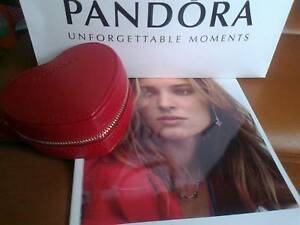 PANDORA   *    Red Leather Heart Jewellery Box    * Acacia Gardens Blacktown Area Preview