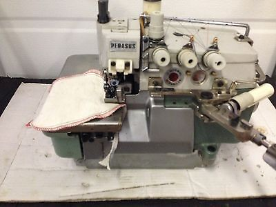 Pegasus 516e32 Heavy Duty Safety Stitch W Shirring Industrial Sewing Machine