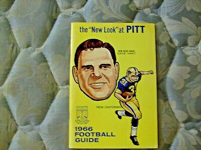 1966 Pitt Panthers Football Media Guide Yearbook Press Book Pittsburgh Program