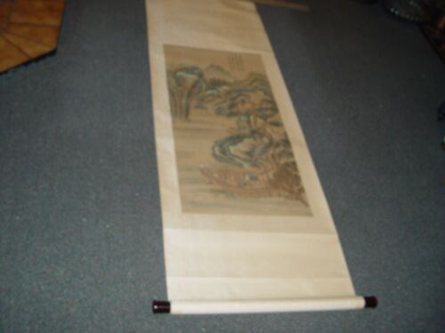 PAINTED CHINESE SCROLL SHANG JI