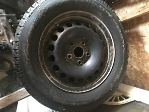 195 65 15 studded winter tires on rims