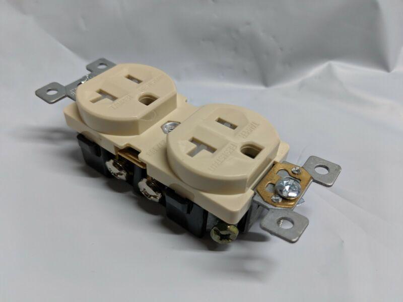 10 pcs 20A Standard Duplex Receptacles 20 Amp Tamper Resistant Outlets IVORY TR