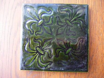 Reclaimed Victorian Antique Craven Dunnill & Co.  Floor Tile 10.5cm x10.5cm ****