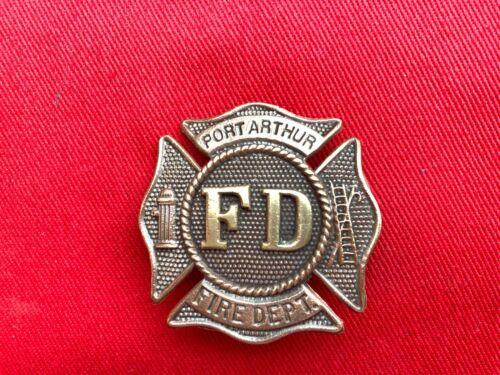 Vintage Fireman badge Port Arthur Texas