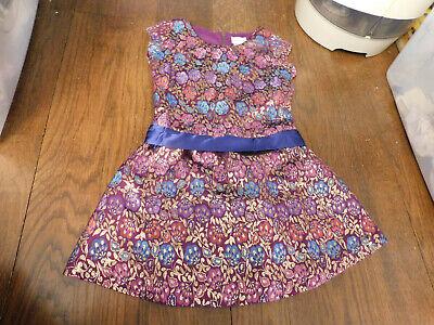 GIRLS sz 8 AMERICAN GIRL Doll Party Purple Brocade DRESS sparkle Shiny